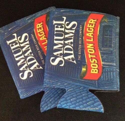 Samuel Adams Boston Lager Foam Koozie Insulator Sam Adams Set of 2