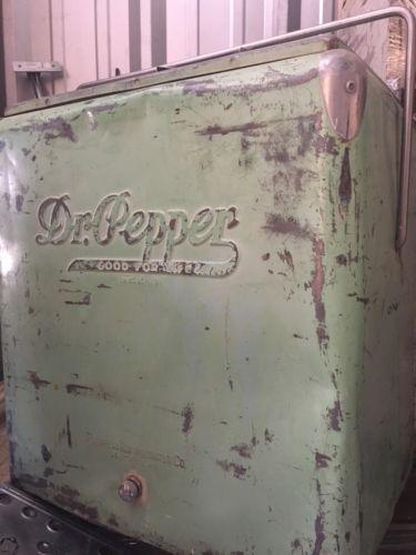 vintage dr pepper cooler