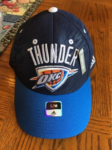 Oklahoma City Thunder NEW Hat Cap Blue Small Medium Men's Adidas NBA Cool Design