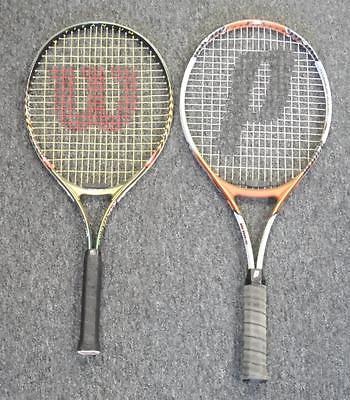Prince Flame Ti Oversize + Wilson Rak Attak Titanium Tennis Racquets