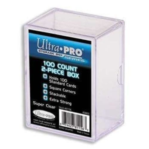 Ultra Pro 2-Piece 100 Count Clear Card Storage Box Collection box Protect, store