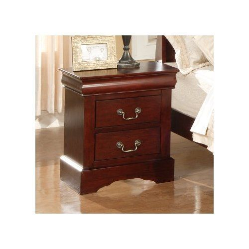 Night Stand 2 Drawer Bedside Table Organizer Bedroom Furniture Accent Wooden New