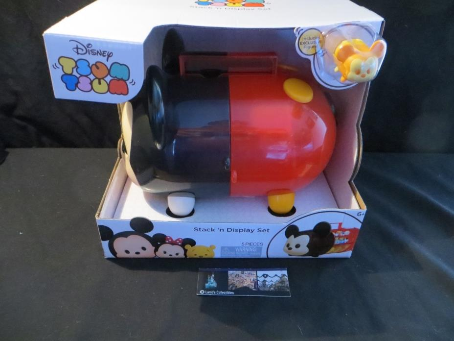 Mickey Stack N Display set Disney Tsum tsum vinyl carrying case inc gold mickey