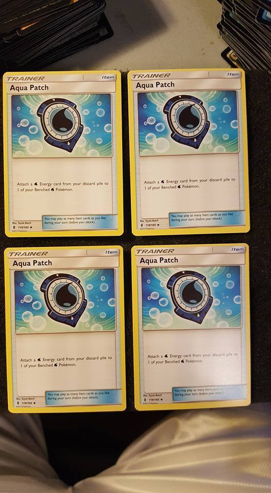POKEMON - 4 Aqua Patch Guardians Rising Playset 119/145 NM/M x4 FAST SHIPPING 4x