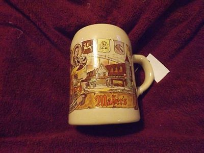 MADER'S German Restaurant in Milwaukee 80th Anniversary Souvenir MUG 1902-1982