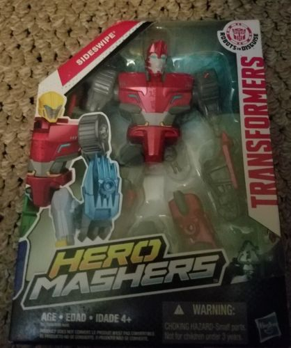 Transformers Robots in Disguise Hero Mashers Sideswipe Action Figure NIB
