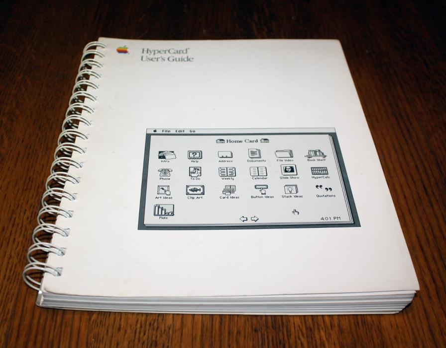 Vintage Apple Mac HyperCard User's Guide, 1988, 030-3081-C • Excellent Condition