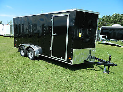7x16 16'  Enclosed Cargo Trailer Motorcycle Trike Utility Paris OK LA TX Texas