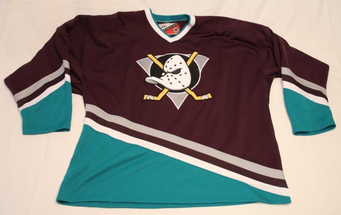 ANAHEIM MIGHTY DUCKS size XL - 1993-2006 - PRO PLAYER VINTAGE Hockey Jersey