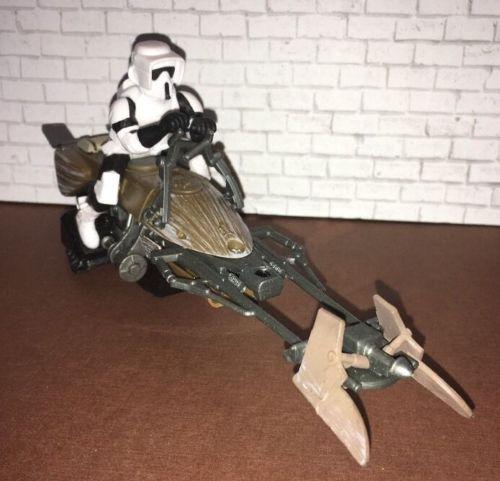 Star Wars Scout Trooper On Speeder Bike Figure - Spinmaster 2015