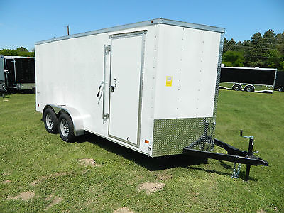 7x16 16'  Enclosed Hauler Trailer Motorcycle Trike Utility Cargo OK LA  TX Texas