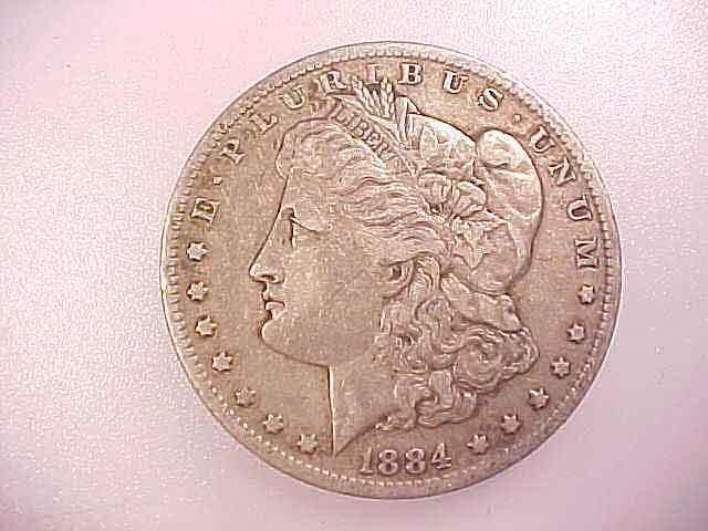 1884-O  MORGAN SILVER DOLLAR Good Detail
