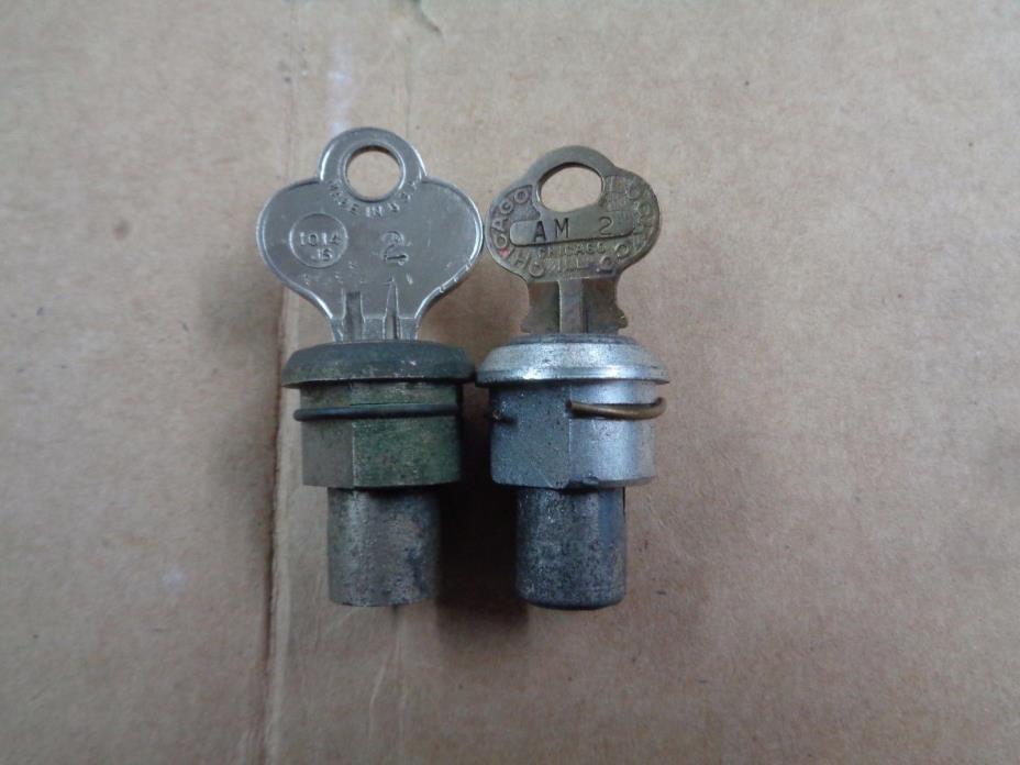 Set of Norris Master Gumball Peanut Machine Locks w/ keys