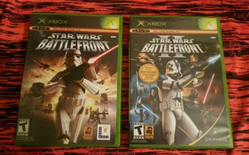 Xbox Black Label Star Wars Battlefront & Battlefront 2 Complete Video Game Lot