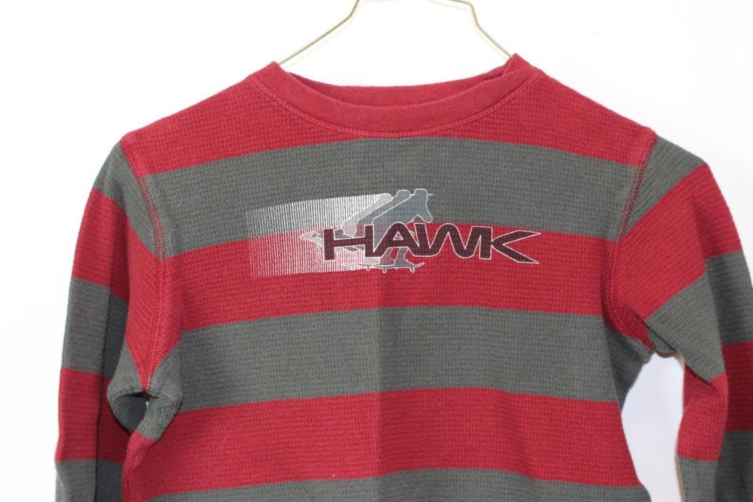 Boys Kids Size XL 7X Tony Hawk Skateboard Red & Gray Stripe Long Sleeve Shirt