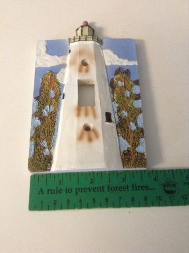 Light House Switch Plate New Made Of Resin