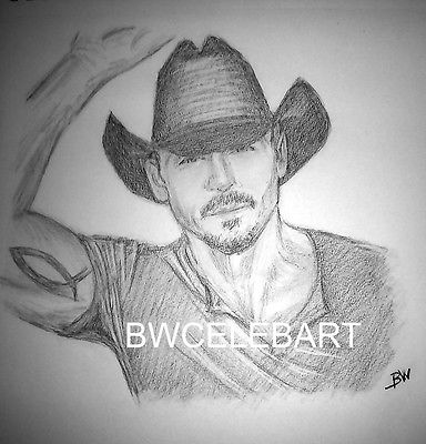 TIM McGRAW  REALISM GRAPHITE PENCIL DRAWING COUNTRY MUSIC REALISM
