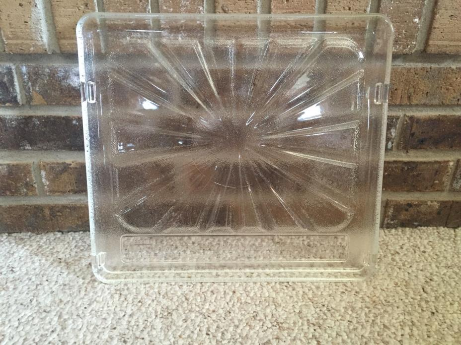 Vtg Camper Glass Range Stove Oven Glass Cooking Tray 15 x 13.5 inches