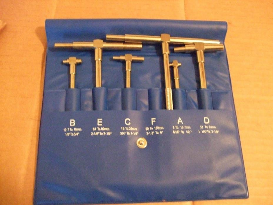 ATLAS LATHE CRAFTSMAN SOUTHBEND  6PC. TELESCOPIC GAGE SET 5/16 TO  6IN.