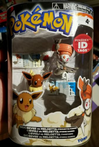 Pokemon Tomy figure 2 pack Evee Meloetta