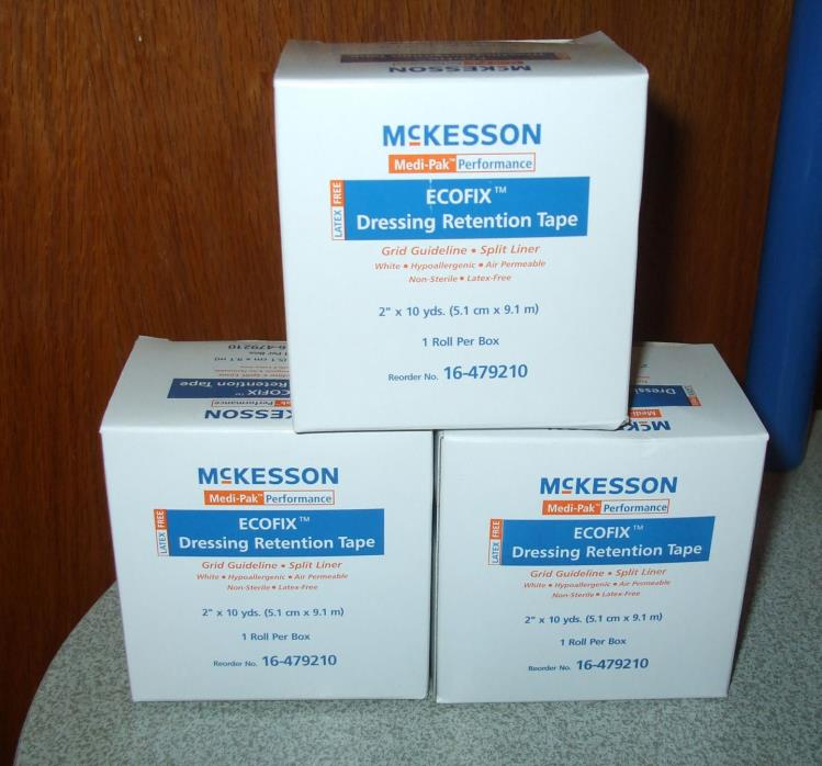 (3) McKesson Medi-Pak Performance Ecofix Dressing Retention Tape 2