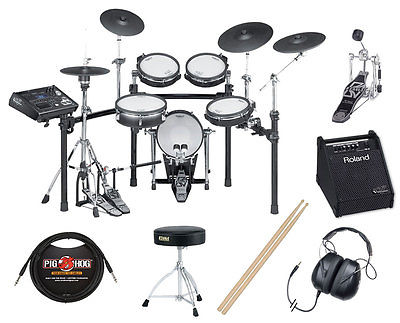 Roland TD-30KS V Pro Series V-Drum Electronic Kit Bundle
