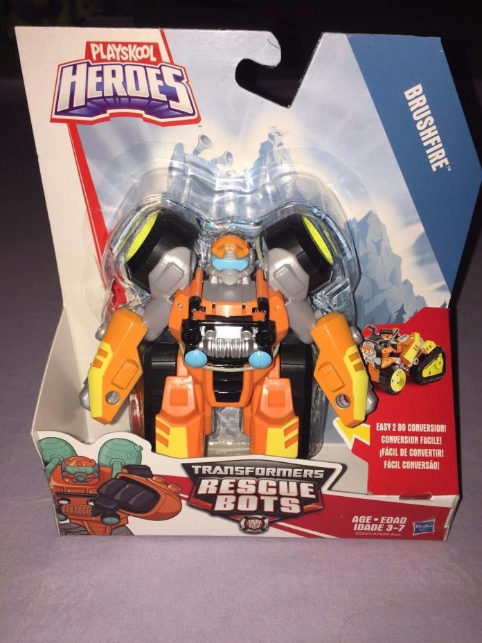 Transformers Rescue Bots BRUSHFIRE PLAYSKOOL HEROES **NEW 2017 RELEASE**