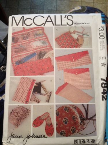 Vintage McCalls Pattern Crafts 7842 Easy Projects 1981 Uncut