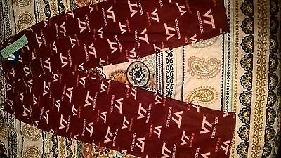 Boys VA TECH Pajama Pants Size 12/14 Brand New With Tags