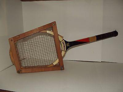 Vintage Mercury tennis racquet with press