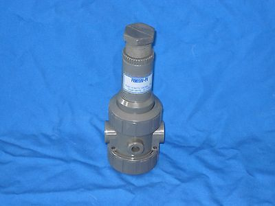 PLASTI-O-MATIC PRM050V-PV PRESSURE REGULATOR VALVE 5-75 PSI  1/2