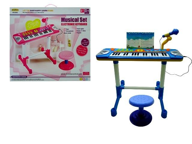 Best Lovely Musical Set Electronic Keyboard For Girls Musical Instrument W/Chair