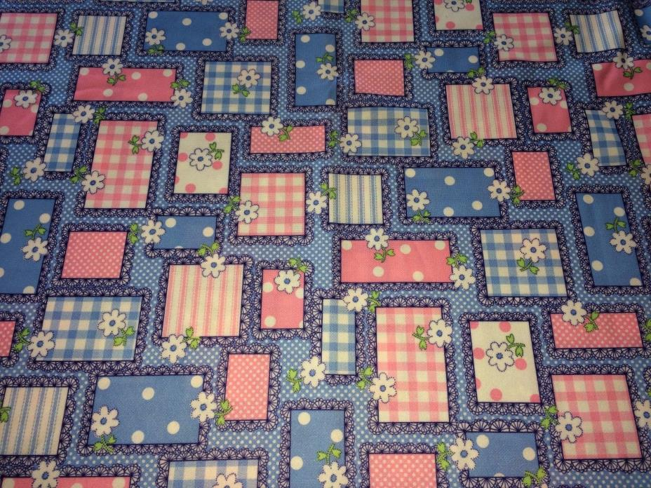 Vintage 1970s Double Knit Fabric 2 Yds x 62