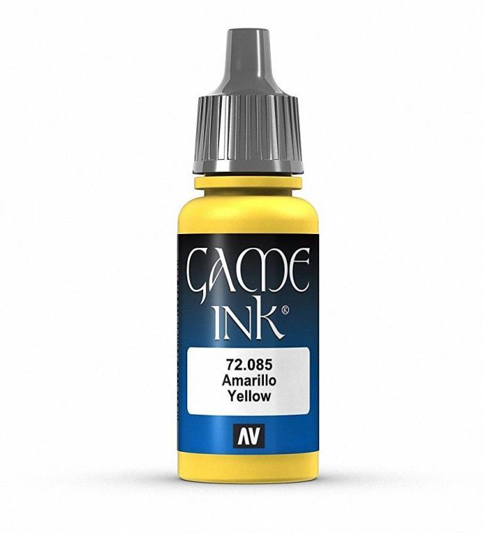 Brand New Vallejo Game Ink Paint 17ml Acrylic - Yellow 72.085