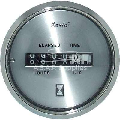 Hourmeter Spun Silver (10,000 hrs) (12-32 VDC)