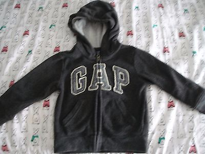 Gap Kids Boys Gray Hooded Jacket Coat Sz 4 years
