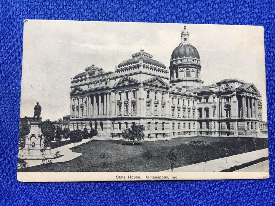 C6 Indianapolis IN State House Building Monument Salem James Case Postcard