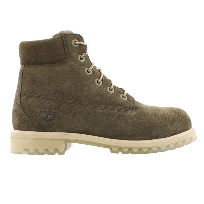 Timberland 6 Inch Grade School Suede Premium Ice Boots Green tb0a1bl4 302 New