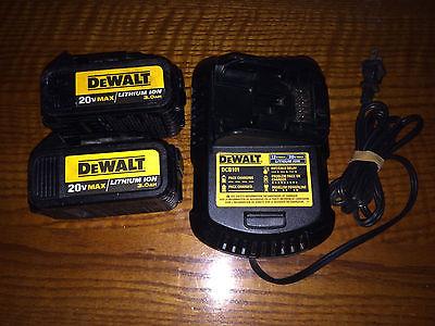 DeWALT DCB200 20V Max 3.0 AH Lithium Ion Batteries & DCB101 12v & 20v Charger