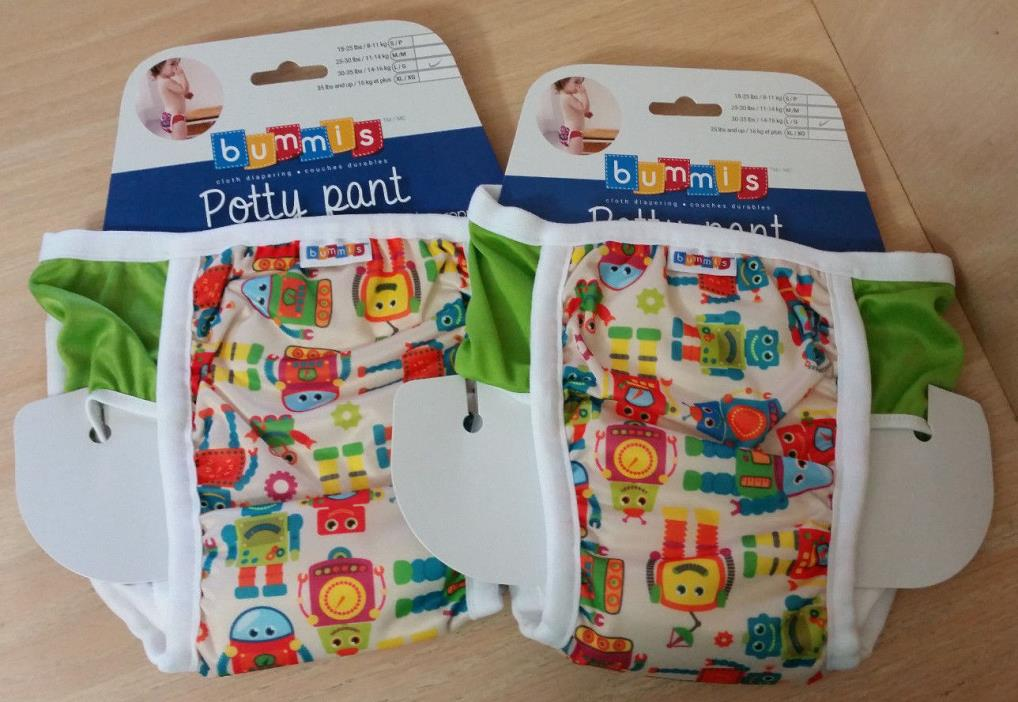 2-Robots Size L 30-35 lbs BUMMIS Waterproof Pull-On Potty Training Pants