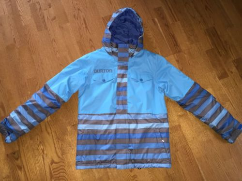 Burton Dri Ride Ski / Snow Coat Size Large (14-16) Boy's Hood Winter