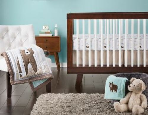 Circo BEAR WOODLAND Baby Crib Nursery 4pc Set ~  NEW NWT BEDDING BOYS