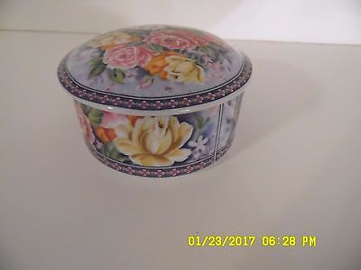 BEAUTIFUL LEFTON 1991 ROSE SPRING EASTER DECOR ROUND TRINKET MUSIC BOX