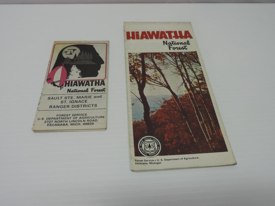 Vintage Hiawatha National Forest Map (Michigan)