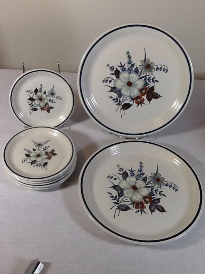 Vintage Town & Country BLUE RIDGE Stoneware Dinner Salad Plates Japan