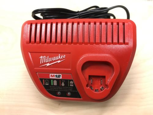 AUTHENTIC NEW Milwaukee 48-59-2401 M12 Li-Ion Red Lithium 12V  Battery Charger