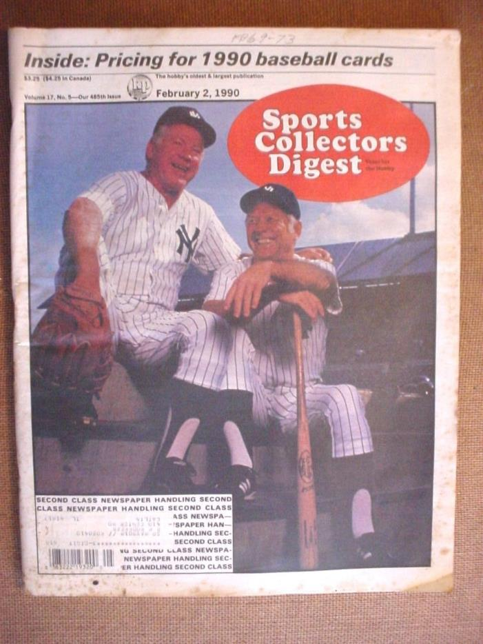 February 2,1990 Sport's Collectors Digest-Vol.17 No.5-Whitey Ford/Mickey Mantle