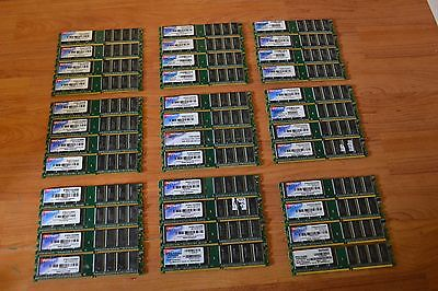 LOT OF 36 PATRIOT - 1GB DDR Desktop RAM Mixed Speed , tested individually