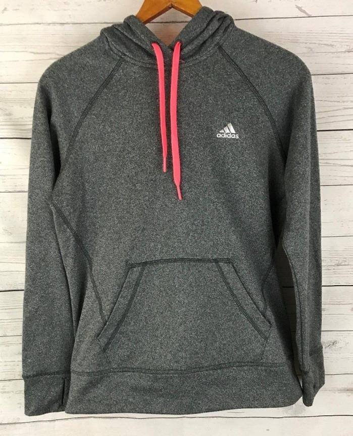 Adidas Ultimate Hoodie Clima Warm Gray/Pink Size Small (4-6)