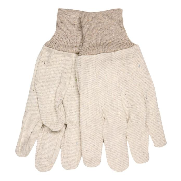 Canvas Gloves Knit Wrist Cotton 8 oz. Natural Men's L  Length 10